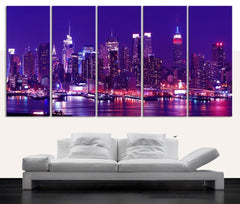 Large Wall Art Canvas Print NEW JERSEY Skyline - Canvas New York Landscape Large Art Print - Large Wall Art Canvas-Wall Art Canvas-Extra Large Wall Art Canvas Print-Extra Large Wall Art Canvas Print