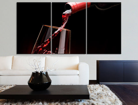 Large Wall Art Canvas Print Red Wine and Wine Glass - Large and Great Wine Canvas Print-Wall Art Canvas-Extra Large Wall Art Canvas Print-Extra Large Wall Art Canvas Print