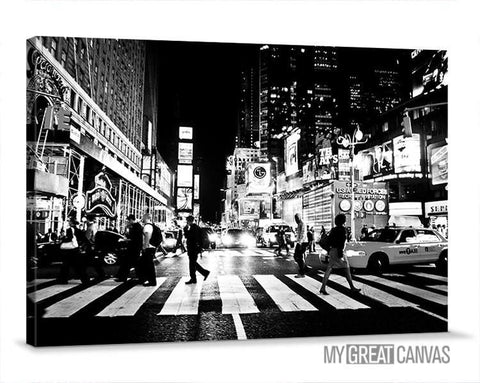 Large Wall Art Canvas Prints - New York Street Large Canvas Prints | Night New York Street Wall Art Large Canvas Print-Wall Art Canvas-Extra Large Wall Art Canvas Print-Extra Large Wall Art Canvas Print