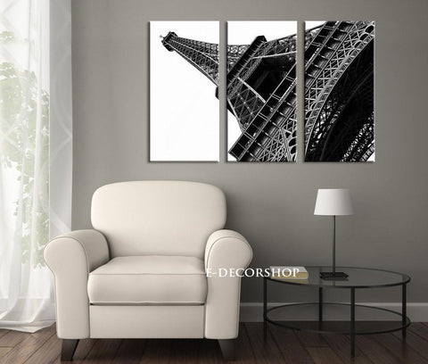 Large Wall Art France Paris Eiffel Tower Canvas Print, Paris Photo Canvas Print, 3 Panel Eiffel Tower 3 Panel Giclee Painting Wall Art - MC70-Wall Art Canvas-Extra Large Wall Art Canvas Print-Extra Large Wall Art Canvas Print