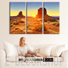 Large Wall Art Grand Canyon Canvas Print - 3 Panel - Ready to Hang - Stretched on Deep 3cm Frame-Wall Art Canvas-Extra Large Wall Art Canvas Print-Extra Large Wall Art Canvas Print