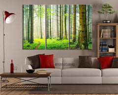 Large Wall Art Green Forest Scenery Photo on Canvas Print - Spring Scenery 3 Panel Canvas Art For Wall Decor-Wall Art Canvas-Extra Large Wall Art Canvas Print-Extra Large Wall Art Canvas Print