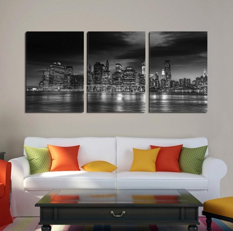 Large Wall Art MANHATTAN Canvas Print - Black and White New York City-Wall Art Canvas-Extra Large Wall Art Canvas Print-Extra Large Wall Art Canvas Print