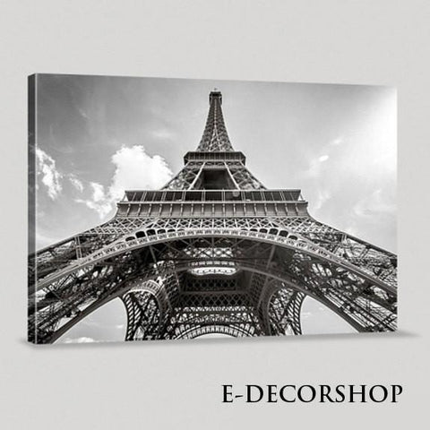 Large Wall Art Modern France Paris Eiffel Tower Giclee Canvas Print Framed Huge 3 Panel | Eiffel Tower Canvas Printing-Wall Art Canvas-Extra Large Wall Art Canvas Print-Extra Large Wall Art Canvas Print