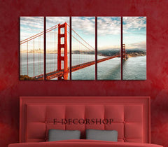 LARGE Wall Art San Francisco Golden Gate Bridge Landscape Large Canvas Art Print for Home Decoration, Ready Hanging - MC245-Wall Art Canvas-Extra Large Wall Art Canvas Print-Extra Large Wall Art Canvas Print