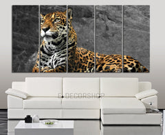 Large Wall Canvas Art Print Leopard Wild Animal Life for Home Decoration,Canvas Painting | Leopard Photo Print Canvas-Wall Art Canvas-Extra Large Wall Art Canvas Print-Extra Large Wall Art Canvas Print