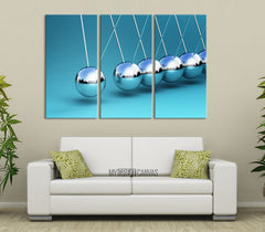 Newtons Law of Motion Canvas Prints-Wall Art Canvas-Extra Large Wall Art Canvas Print-Extra Large Wall Art Canvas Print