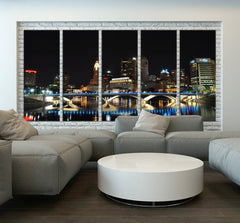 Ohio City Skyline Art Canvas Print, Ohio Night Wall Art Canvas Print - Ohio Large Canvas Print-Wall Art Canvas-Extra Large Wall Art Canvas Print-Extra Large Wall Art Canvas Print