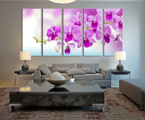Orchid Flower Wall Art Canvas Print - Pink Orchid Flower Art Canvas Print - Extra Large Orchid Canvas Print-Wall Art Canvas-Extra Large Wall Art Canvas Print-Extra Large Wall Art Canvas Print