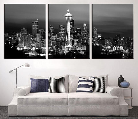 Seattle Wall Art Canvas Print-Wall Art Canvas-Extra Large Wall Art Canvas Print-Extra Large Wall Art Canvas Print