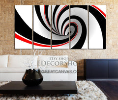 Spiral Cycle Canvas Print, Canvas Art Prints For Wall, Red White Black Canvas Printing, Wall Art Canvas-Wall Art Canvas-Extra Large Wall Art Canvas Print-Extra Large Wall Art Canvas Print