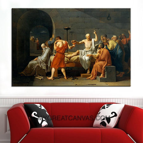 The Death of Socrates Canvas Print Reproduction, Jacques Louis David Art Canvas Print-Wall Art Canvas-Extra Large Wall Art Canvas Print-Extra Large Wall Art Canvas Print
