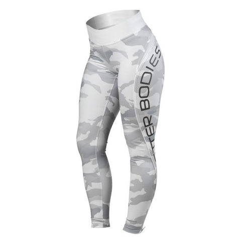 Better Bodies Camo High Tights - White Camo - FitStyle.no