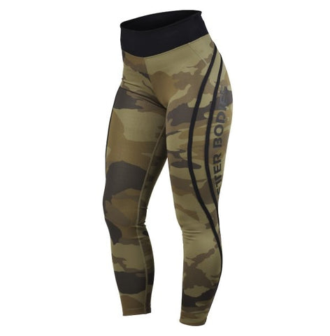 Better Bodies Camo High Tights - Dark Green Camo - FitStyle.no