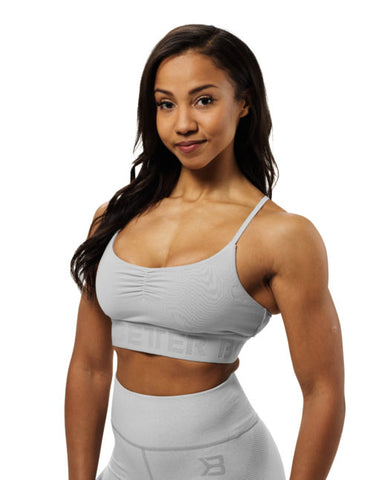 Better Bodies Chelsea Sports Bra Frost Grey - FitStyle.no