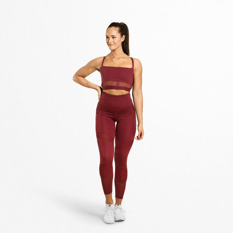 Better Bodies Waverly Mesh Bra - Rød - FitStyle.no