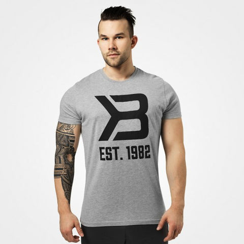 Better Bodies Washington Tee - Grey Melange - FitStyle.no