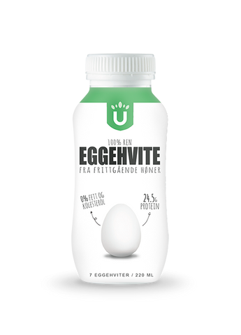 Ultimight 100% Ren Eggehvite - 220ml - FitStyle.no