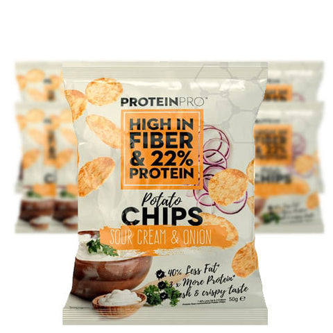 ProteinPro Chips Sour Cream & Onion 14x50g