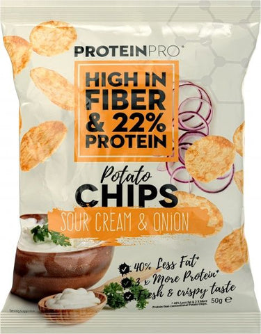 ProteinPro Chips Sour Cream & Onion 50g