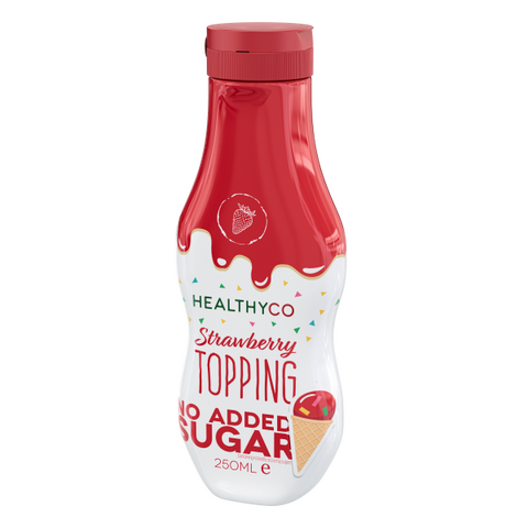 Healthyco Topping Strawberry 250ml - FitStyle.no