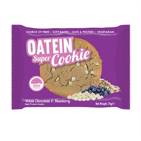 Oatein Super Cookies White Chocolate & Blueberry 75g - FitStyle.no