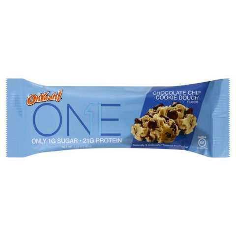 Oh Yeah ONE Bars Chocolate Chip Cookie Dough 60g - FitStyle.no