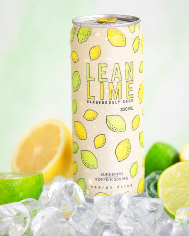Lean Lime Energy Drink 24x330ml - FitStyle.no