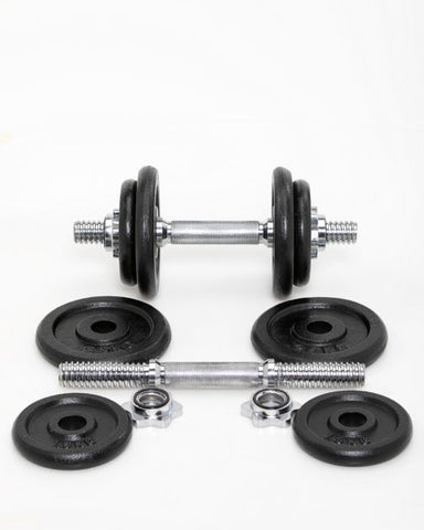 LEVITY Fitness Double Dumbell Set 2x10kg - FitStyle.no