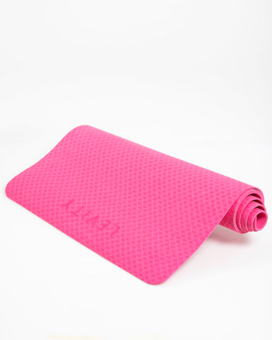 LEVITY Fitness Elite Yoga Treningsmatte 4mm – Rosa - FitStyle.no