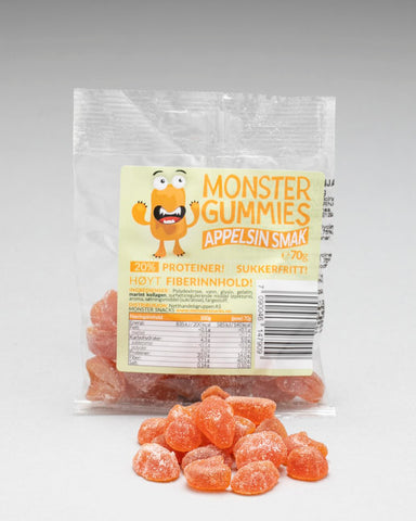 Monster Protein Gummies Orange 70g