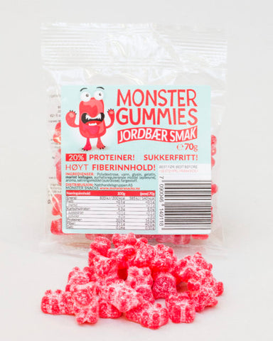 Monster Protein Gummies Strawberry 70g