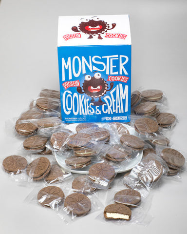 Monster High Protein Lavkarbo Cookies & Cream 40x15g