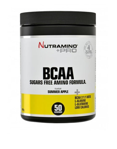 Nutramino +Pro BCAA Powder Summer Apple – 400g - FitStyle.no