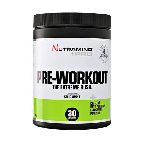 Nutramino +Pro Pre-workout Powder Sour Apple 330g