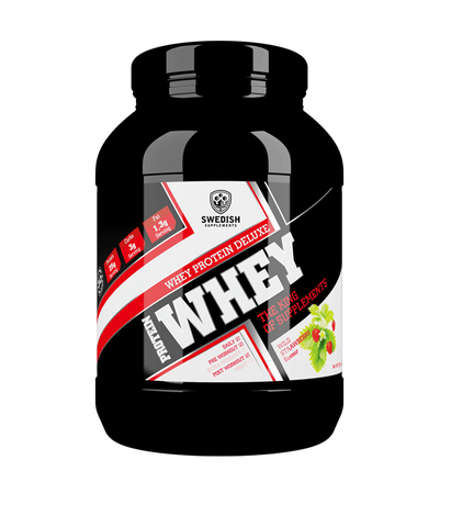 Whey Protein Deluxe - Wild Strawberry - 1kg - FitStyle.no