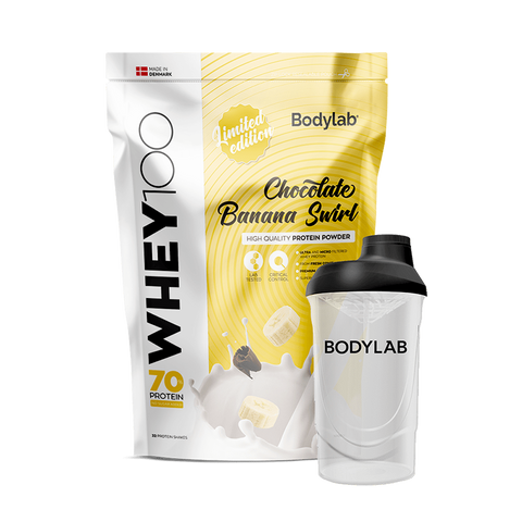 Bodylab Whey 100 Chocolate Banana Swirl 1kg - FitStyle.no