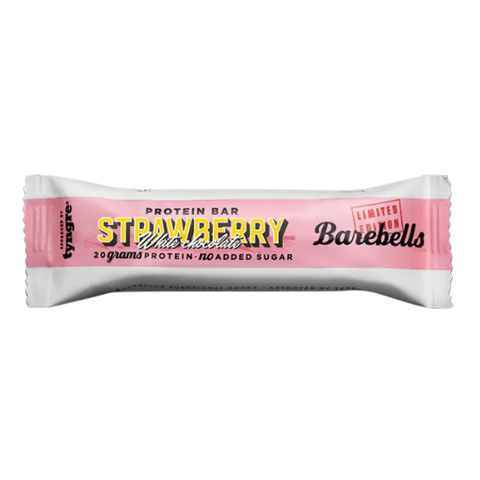 Barebells - Strawberry White Chocolate 55g - FitStyle.no