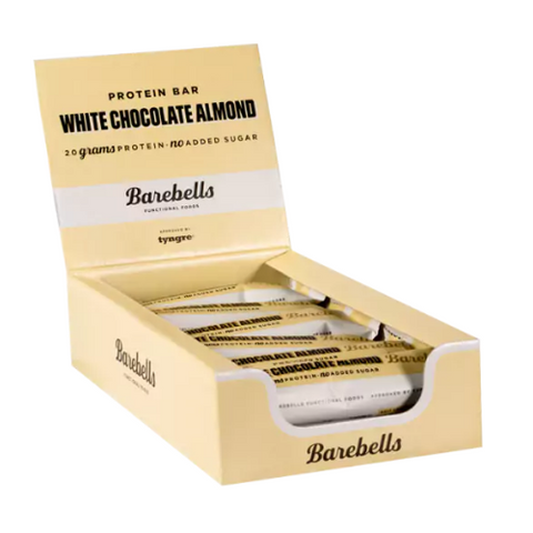 Barebells - White Chocolate Almond 12x55g - FitStyle.no