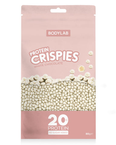 Bodylab Protein Crispies White Chocolate 80g - FitStyle.no