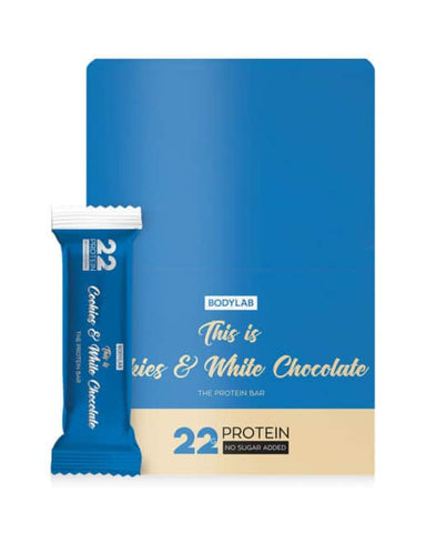 Bodylab Protein Bar Cookies & White Chocolate 12x65g - FitStyle.no