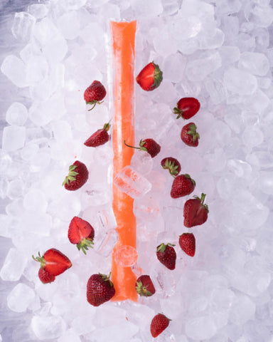 Monster Protein Sukkerfri Ice Pop Strawberry 150g
