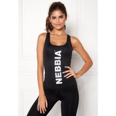 Nebbia Carbon Tank Top - Black - FitStyle.no