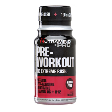Nutramino +Pro Pre-Workout Shot Berries 60ml - FitStyle.no
