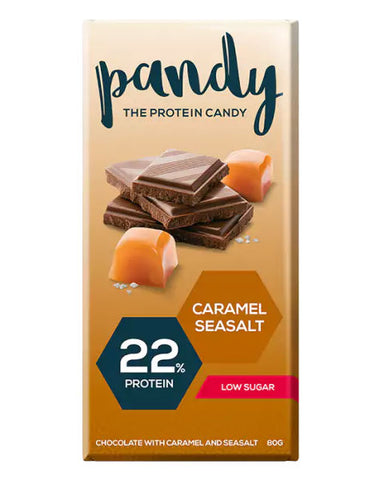 Pandy Protein Chocolate Caramel & Sea Salt 80g - FitStyle.no