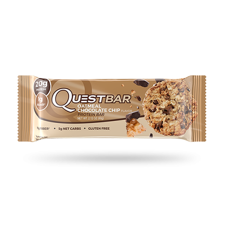 Quest Bar Oatmeal Chocolate Chip 60g - FitStyle.no