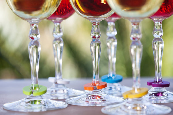 Wine Glass Marker Charms & Bottle Stopper - Avina Wine Tools