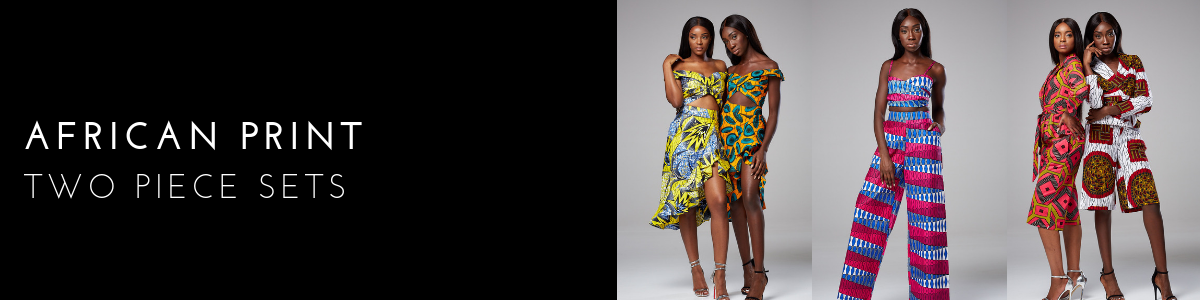 African Print Two Piece Sets