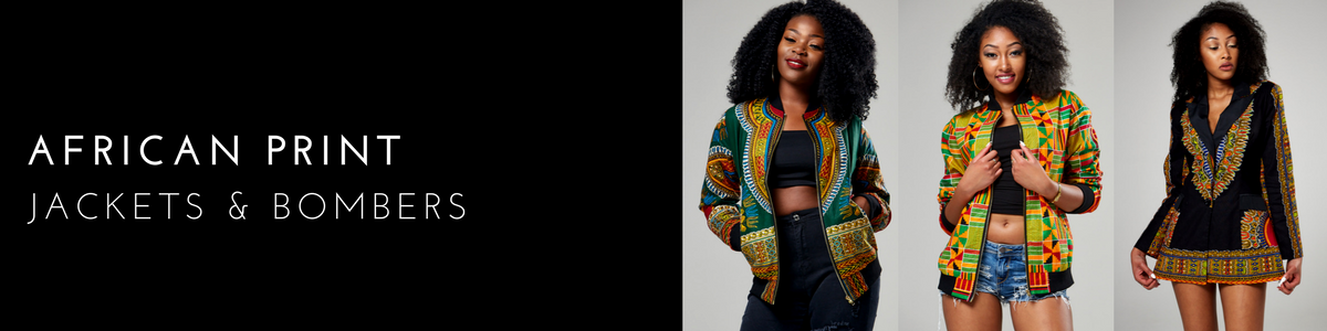 African Print Bomber Jackets