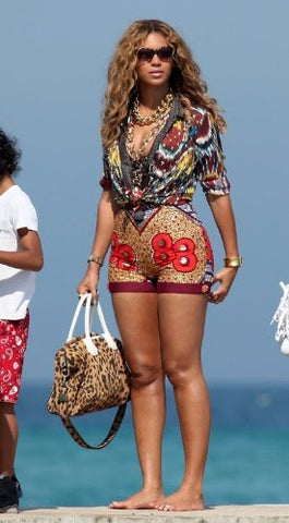 beyonce in african print